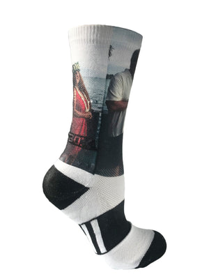 Custom Novelty Portrait Athletic Socks- The Sox Box