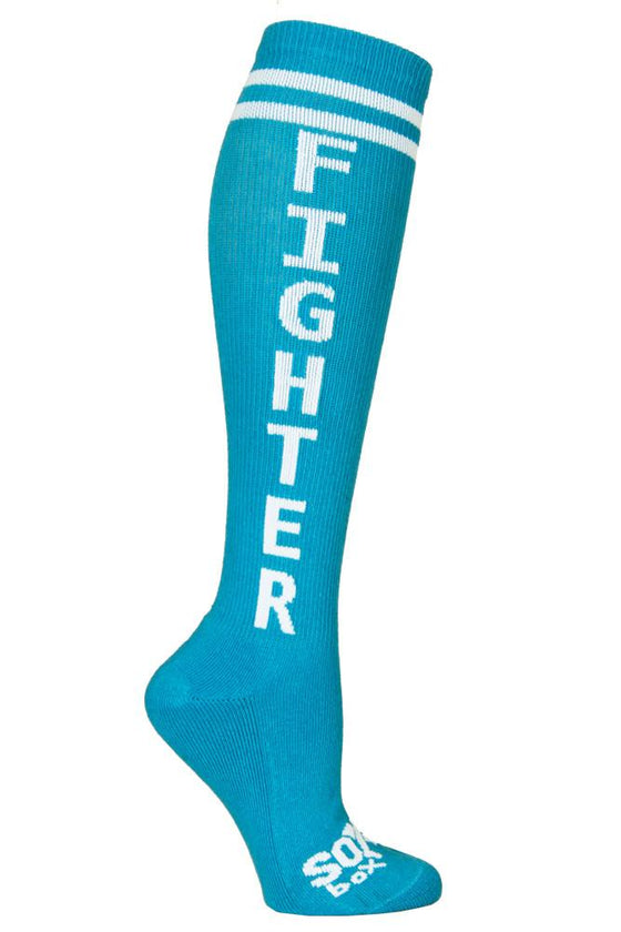 Fighter Turquoise Athletic Knee High Socks- The Sox Box