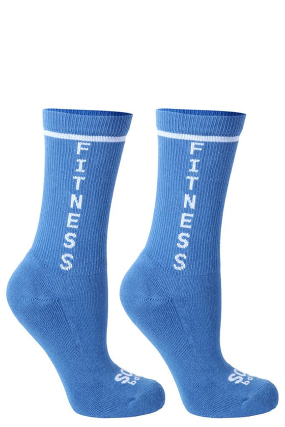 Fitness Crews Light Blue Athletic Socks- The Sox Box