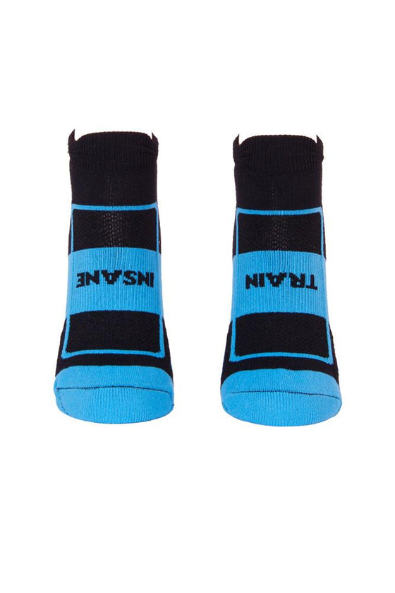Train Insane Blue Compression Footie Socks- The Sox Box