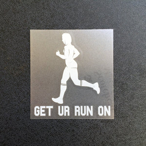 Get Ur Run On (Woman) Decal