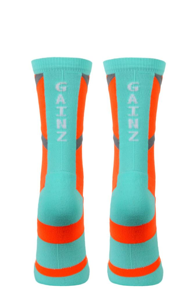 Gainz Orange Performance Crew Socks- The Sox Box