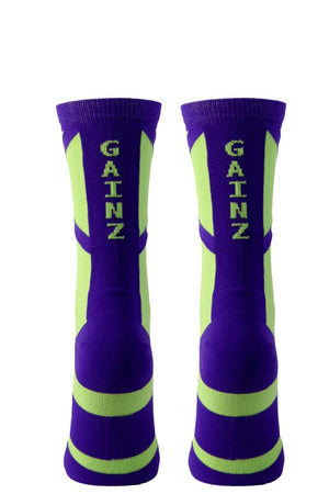 Gainz Purple Performance Crew Socks- The Sox Box