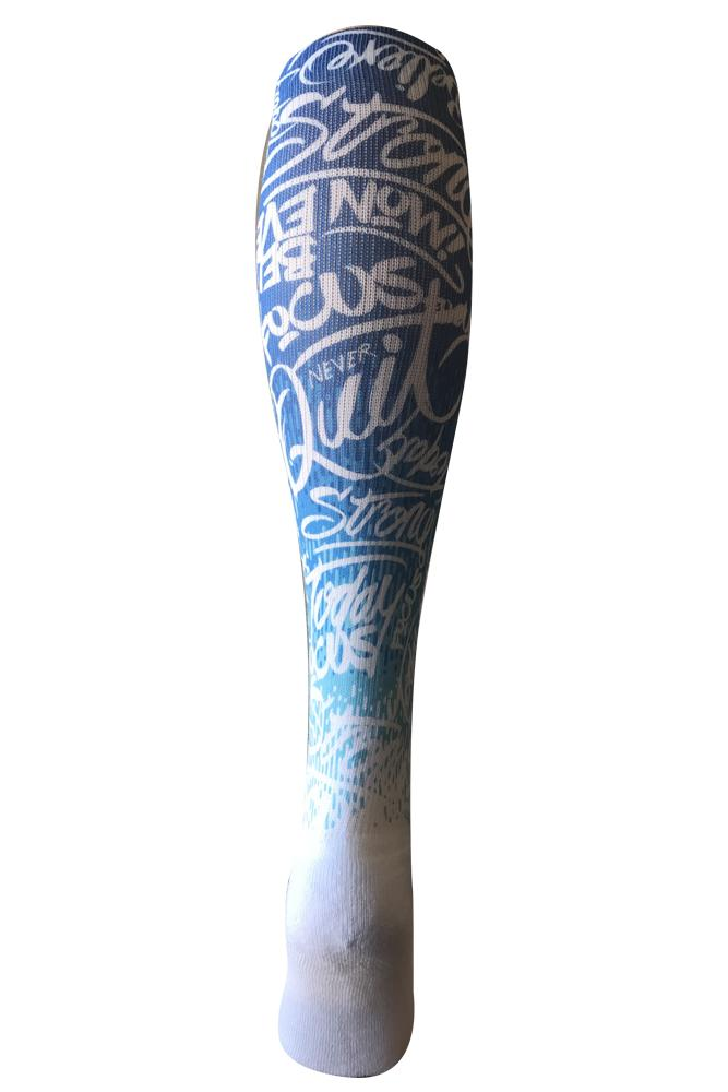 Highly Motivated Blue Novelty Knee High Socks- The Sox Box