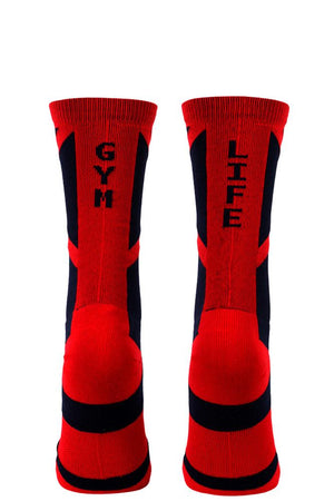 Gym Life Navy Performance Crew Socks- The Sox Box