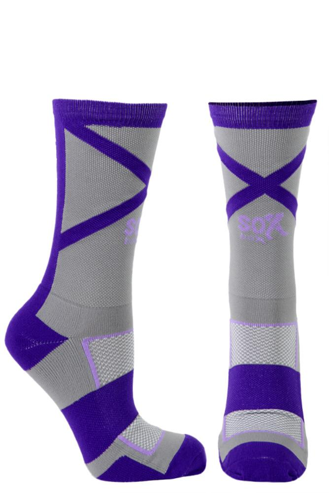 Gym Life Grey Performance Crew Socks- The Sox Box