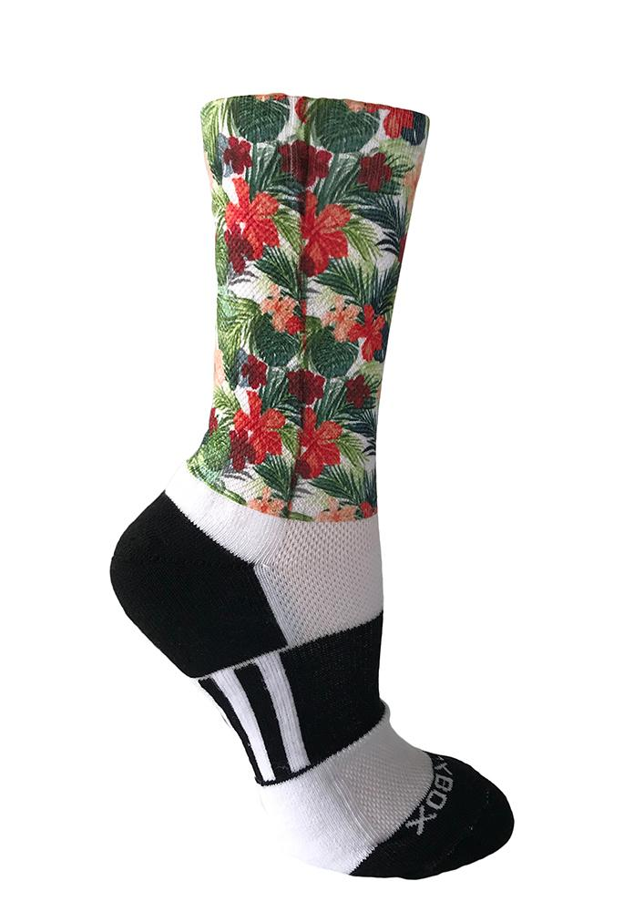 Hibiscus Flowers Novelty Socks- The Sox Box