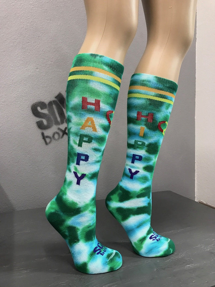 Happy Hippy Tie Dye Athletic Knee High Socks- The Sox Box