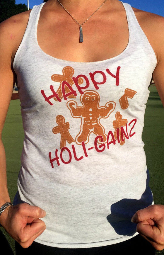 Happy Holigainz Women's Workout Triblend Tank- The Sox Box
