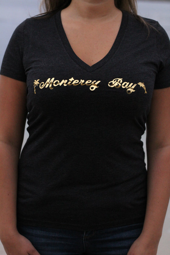 Monterey Bay Women's V-Neck T-Shirt- The Sox Box
