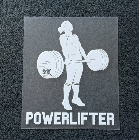 Powerlifter (Woman Deadlifting) Decal