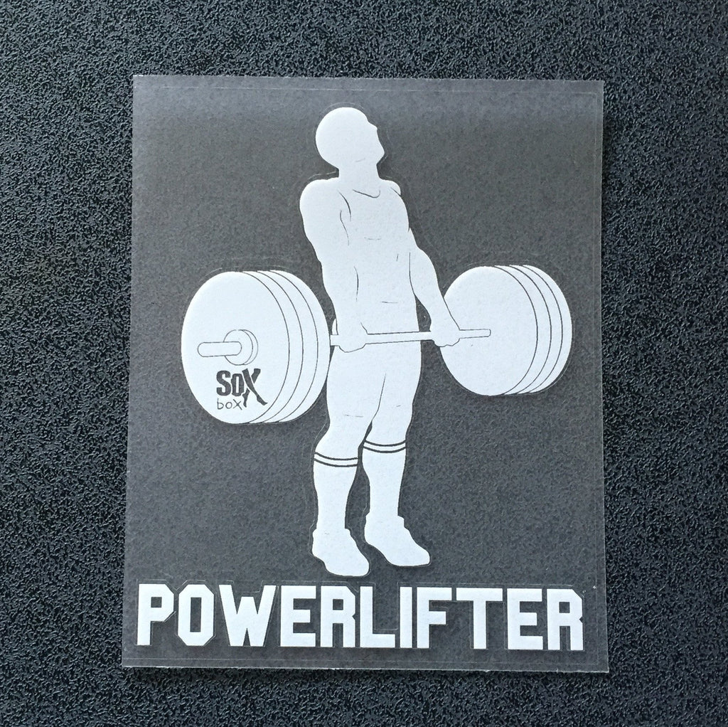 Powerlifter (Man Deadlifting) Decal
