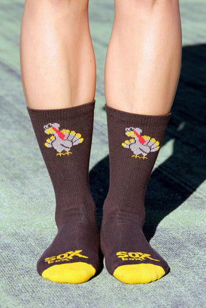 Trot This Way Brown Crew Socks- The Sox Box