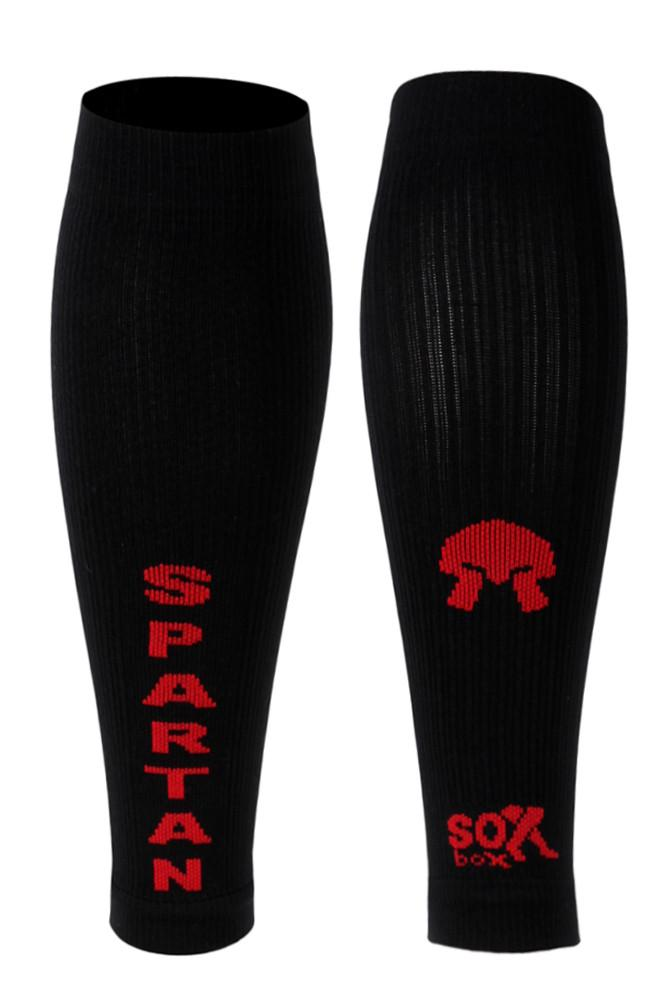 Spartan Black Compression Sleeves- The Sox Box