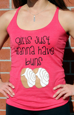 Girls Just Wanna Have Buns Tank