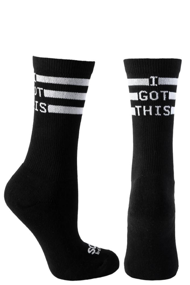 I Got This Black Athletic Crew Socks- The Sox Box