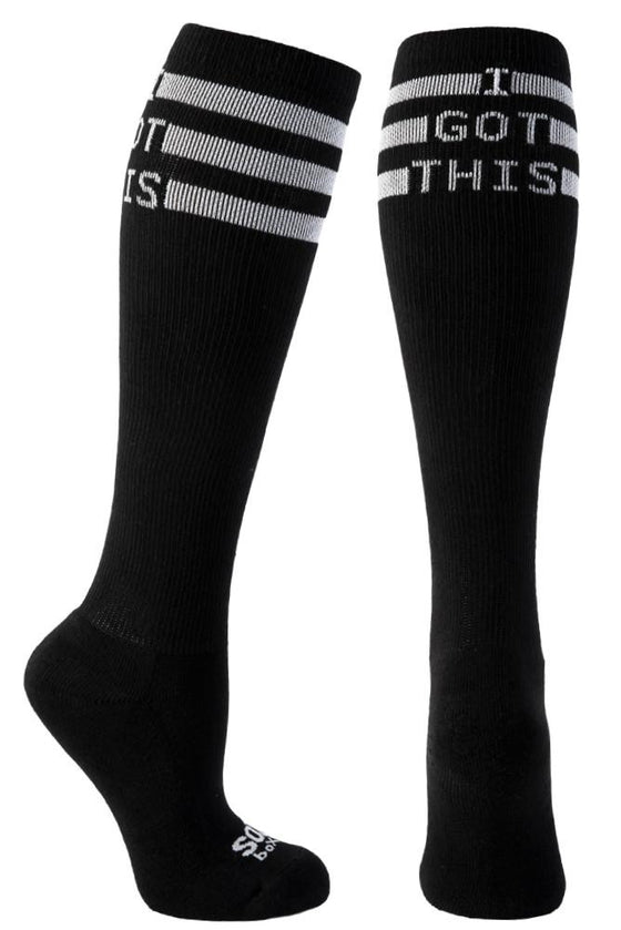 I Got This Black Athletic Knee High Socks- The Sox Box