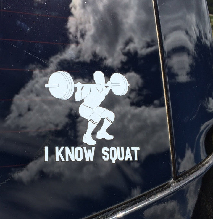 I Know Squat (Man) Decal