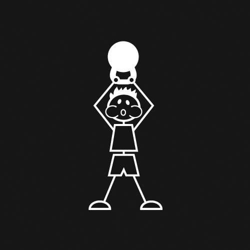 Kettlebell (Boy) Decal