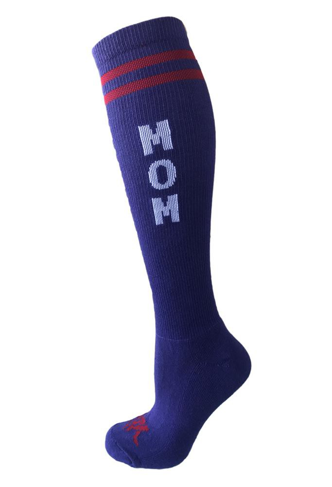 Mom Purple Athletic Knee High Socks - The Sox Box