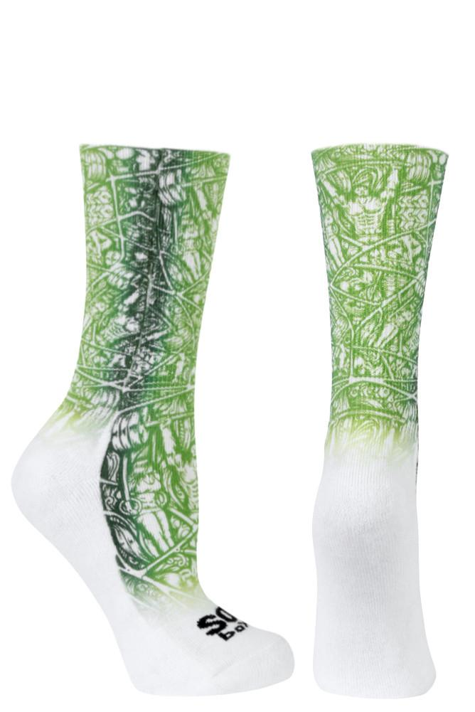 Weight Around Green Novelty Crew Socks- The Sox Box