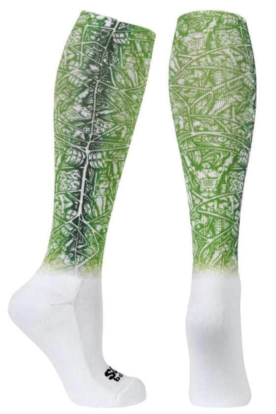 Weight Around Green Novelty Knee High Socks-The Sox Box