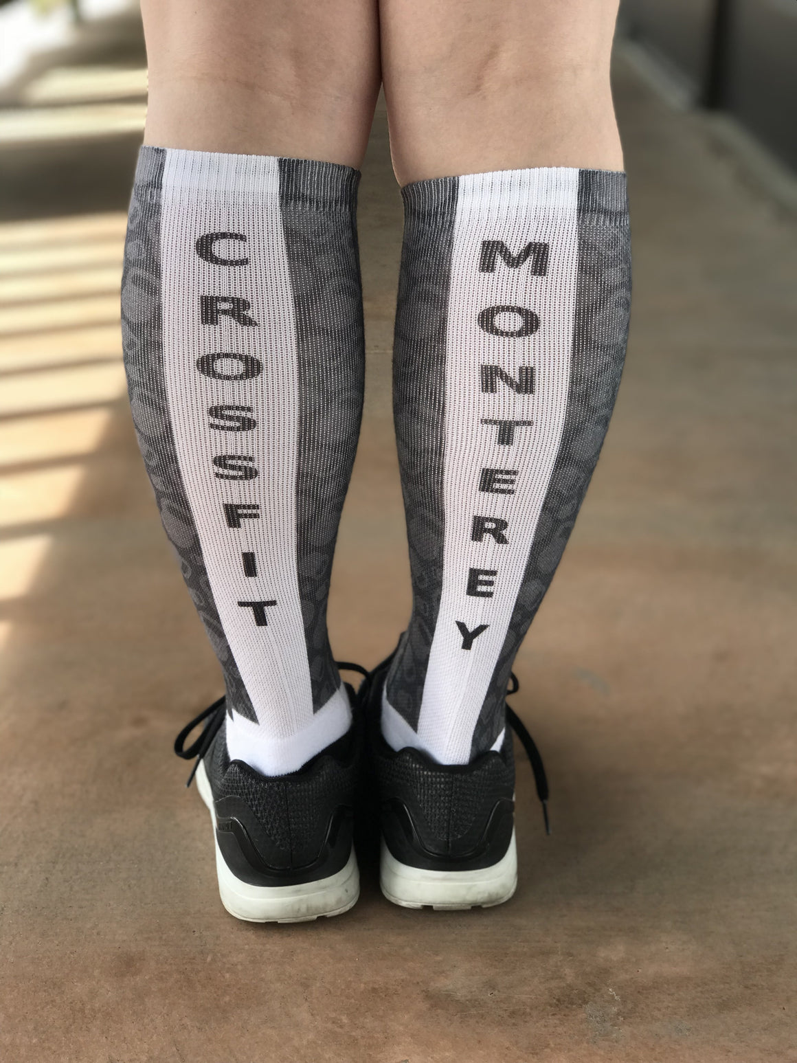 Novelty Custom Grey Kettle Bell Socks- The Sox Box
