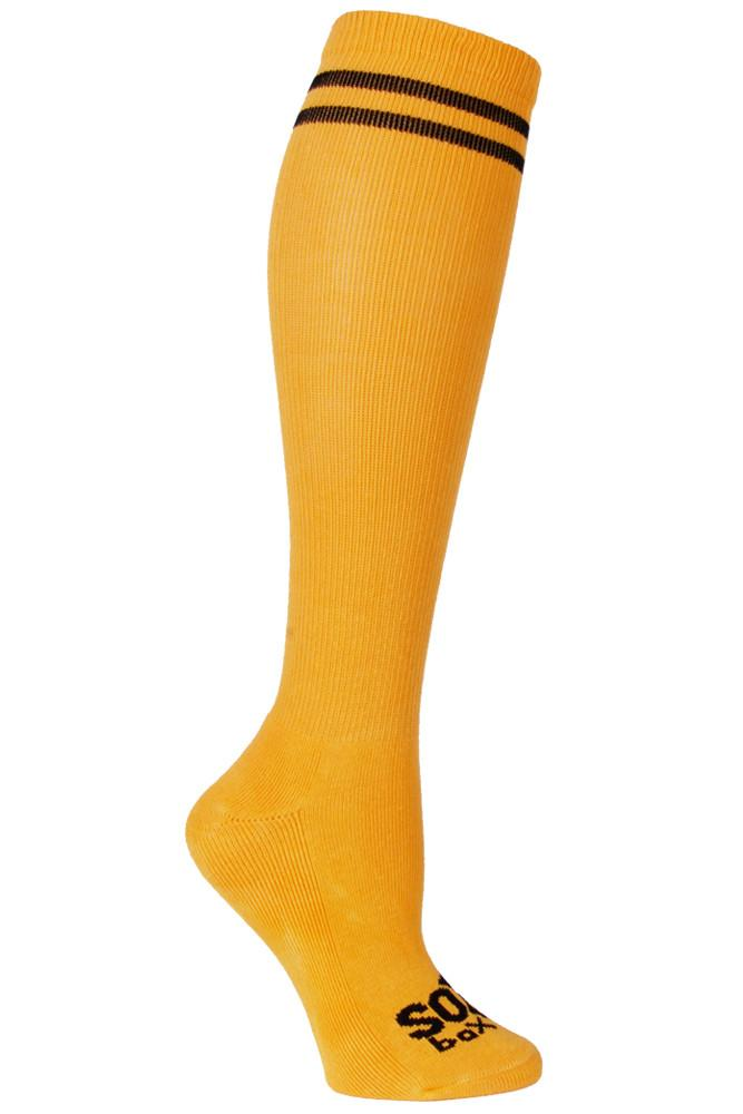 Yellow/Black Athletic Knee High Socks- The Sox Box