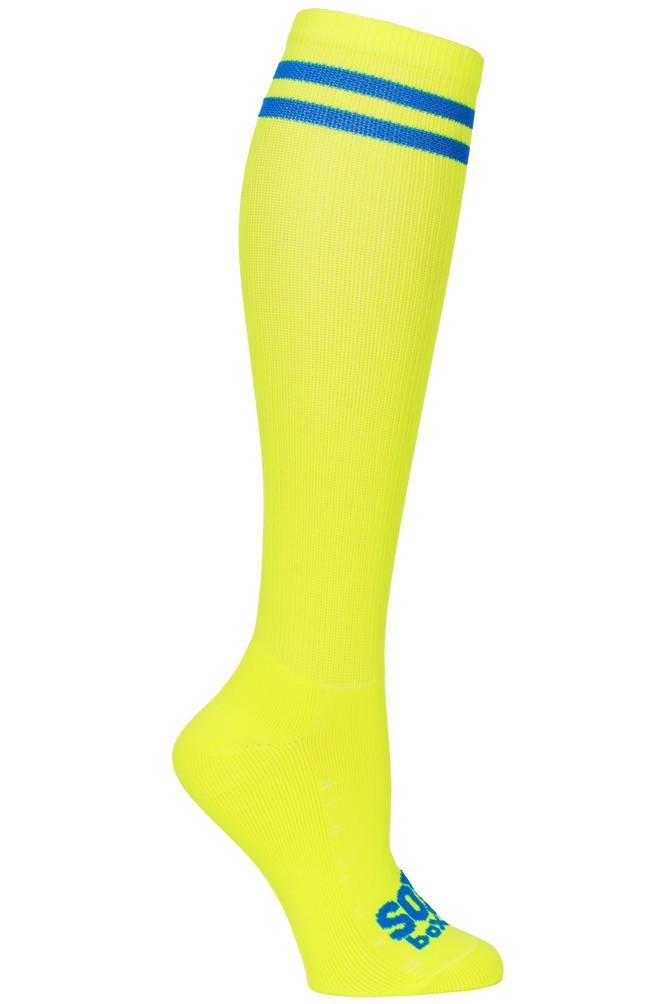 Bright Neon Yellow Athletic Knee High Socks- The Sox Box