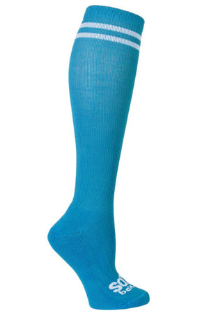 Turquoise/White Speechless Kneehigh Sox