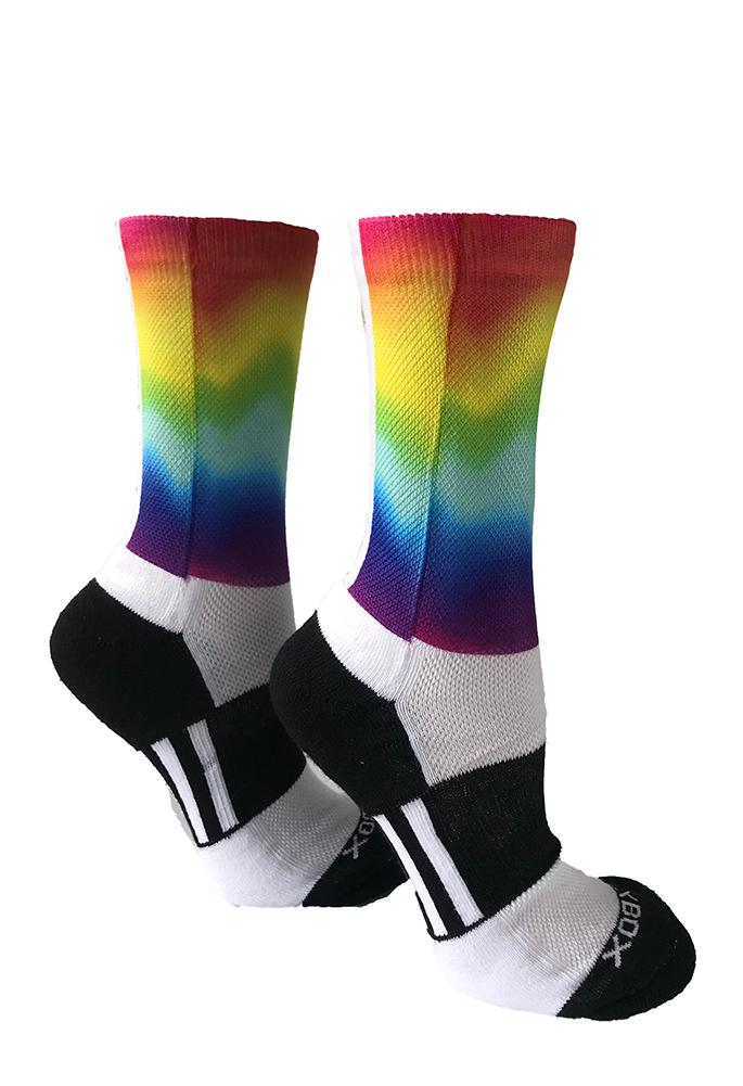 Novelty Custom Rainbow Socks- The Sox Box