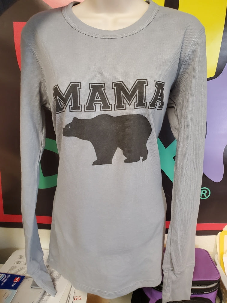 Mama Bear Long Sleeved Thermal Granite - The Sox Box