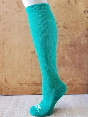 Green Speechless Athletic Knee High Socks- The Sox Box