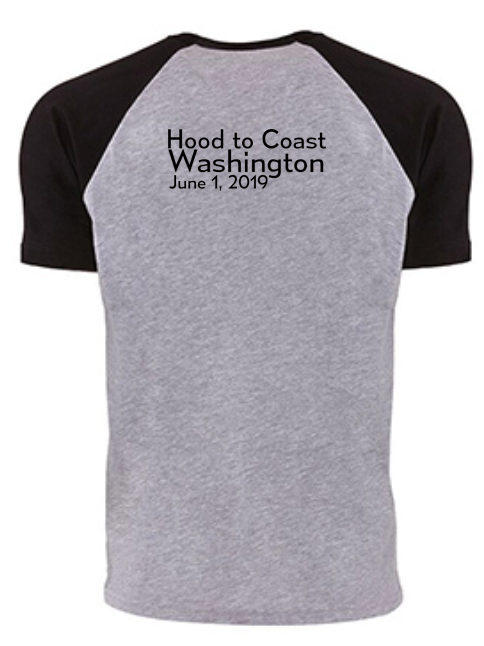 "ROC 2019  ""Hood to Coast"" Cotton Raglan Tee - The Sox Box"