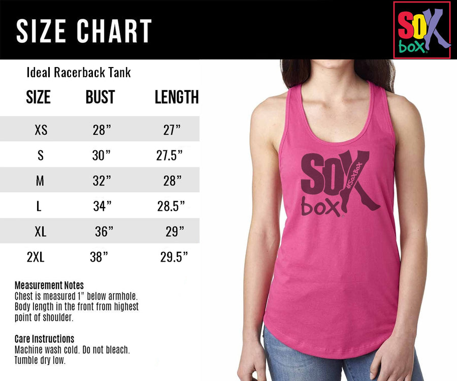 Deadlifts, Squats, Bench & Pizza Women's Workout Racerback Tank- The Sox Box