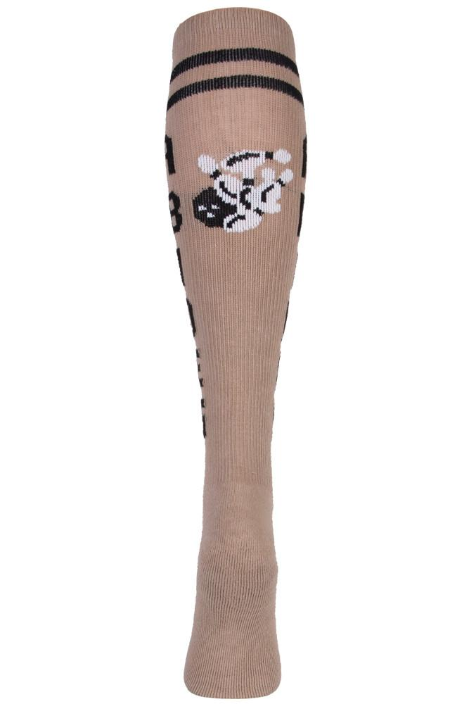 The Dude Abides Tan Athletic Knee High Socks- The Sox Box
