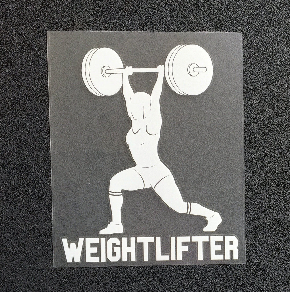 Weightlifter Jerk (Woman) Decal