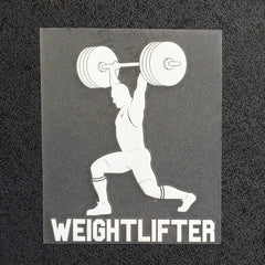 Weightlifter Jerk (Man) Decal