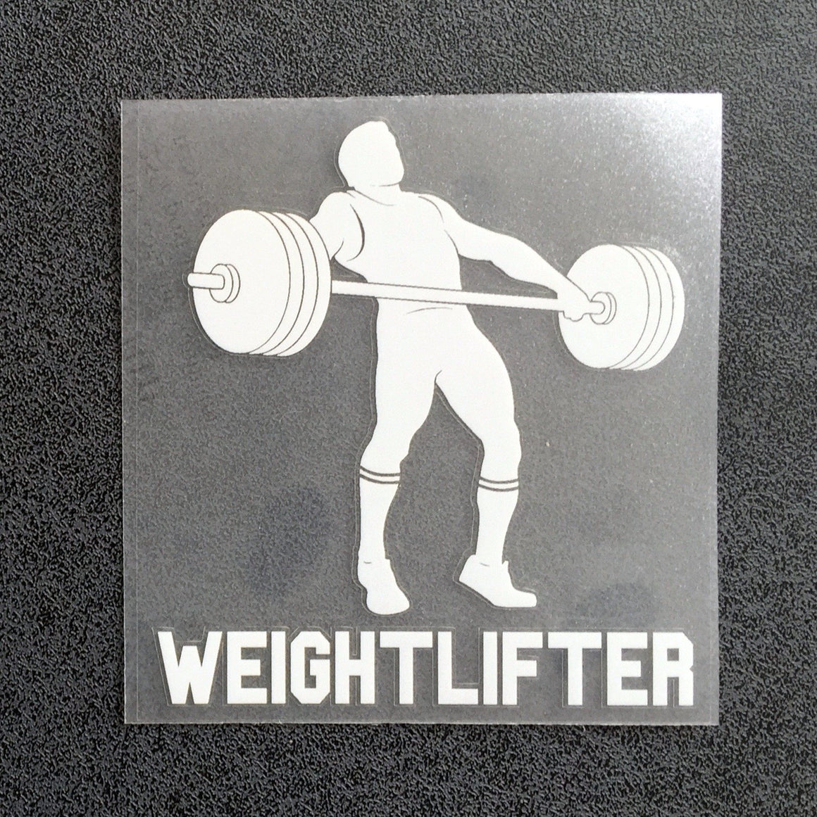 Weightlifter Snatch (Woman) Decal