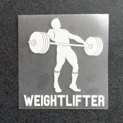 Weightlifter Snatch (Man) Decal