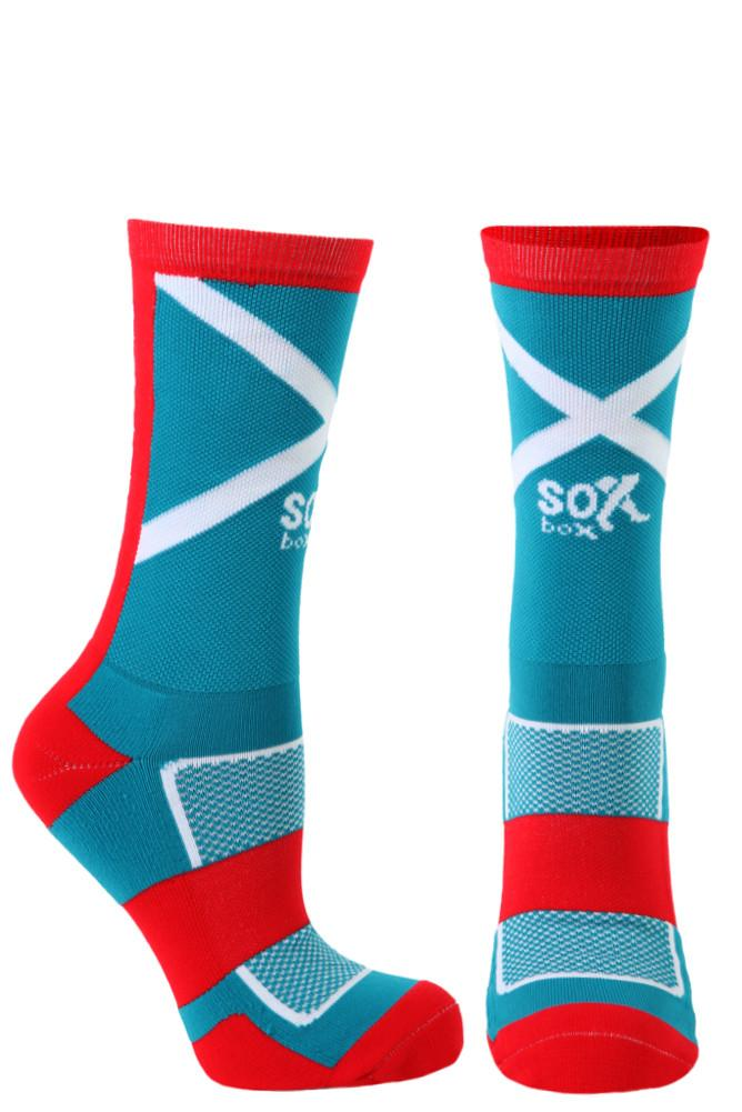 Warrior Turquoise Performance Crew Socks- The Sox Box