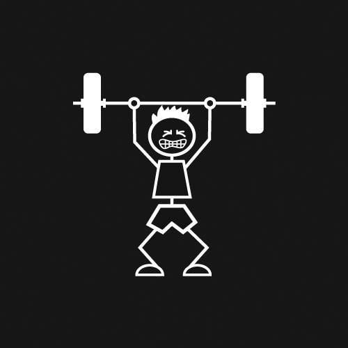 Weightlifter (Boy) Decal