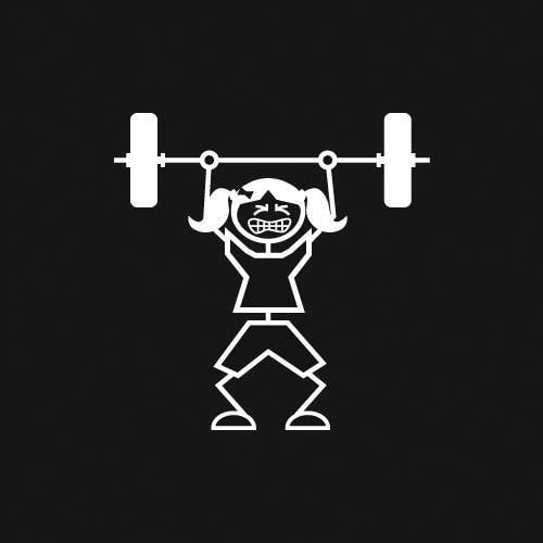Weightlifter (Girl) Decal
