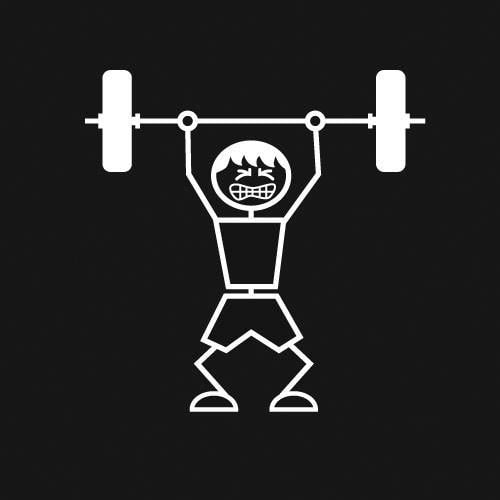 Weightlifter (Man) Decal