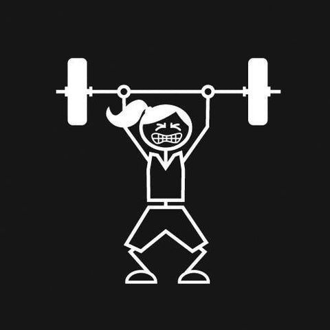 Weightlifter (Woman) Decal