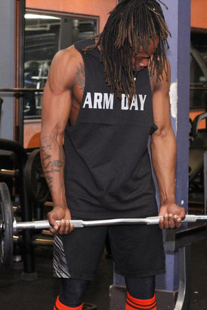 Arm Day Men's Workout Triblend Shirt - The Sox Box