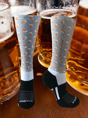 Beer Novelty Fun Athletic Socks- The Sox Box