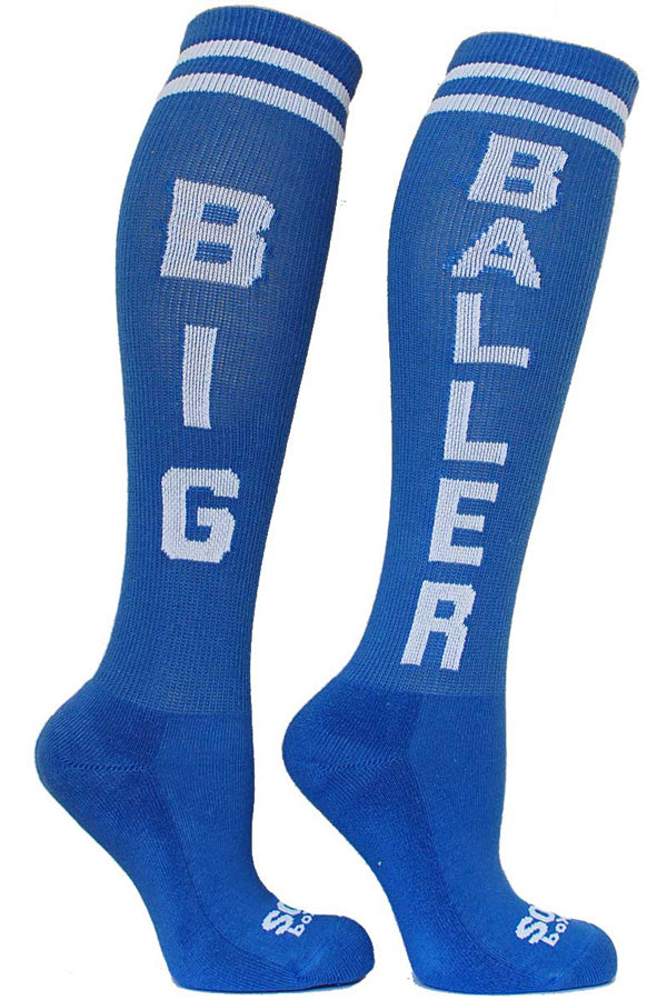 Big Baller Small Blue Knee Highs