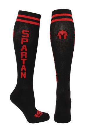 Spartan Black Athletic Knee High Socks- The Sox Box