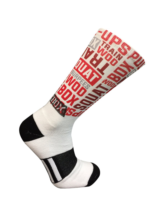 WOD Sox White Novelty Crew Socks- The Sox Box